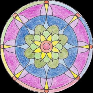 Mandala Lotus rund II