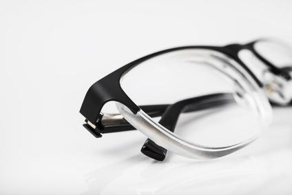 Closeup of eye glasses background