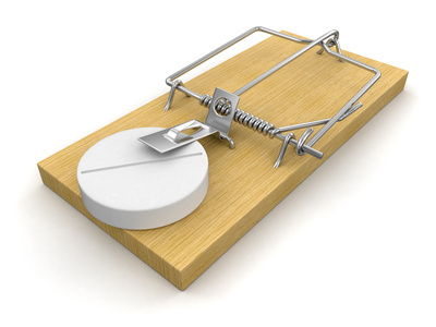 Mousetrap and Tablet (clipping path included)