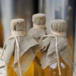 Homemade liqueur with spices - still life